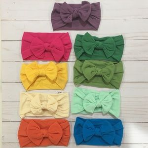 Other - NEW!! Bright summer nylon baby bow headbands